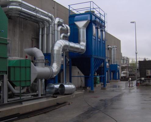 impianto di aspirazione industriale