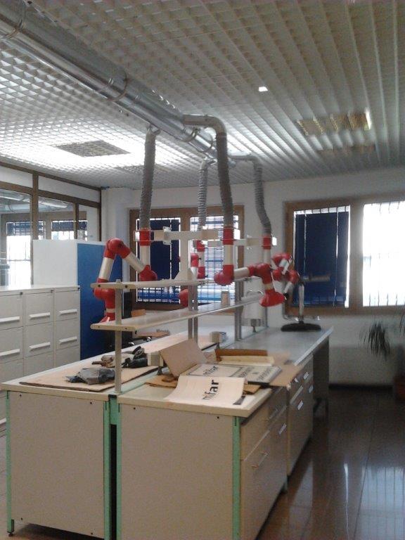impianto di aspirazione industriale laboratorio